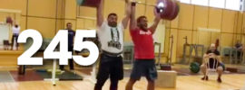 Dmitry Klokov & Dmitriy Berestov 245kg Tandem Power Clean + Strict Press