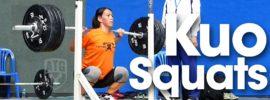 Kuo Hsing-Chun Back Squats Asian Weightlifting Championships