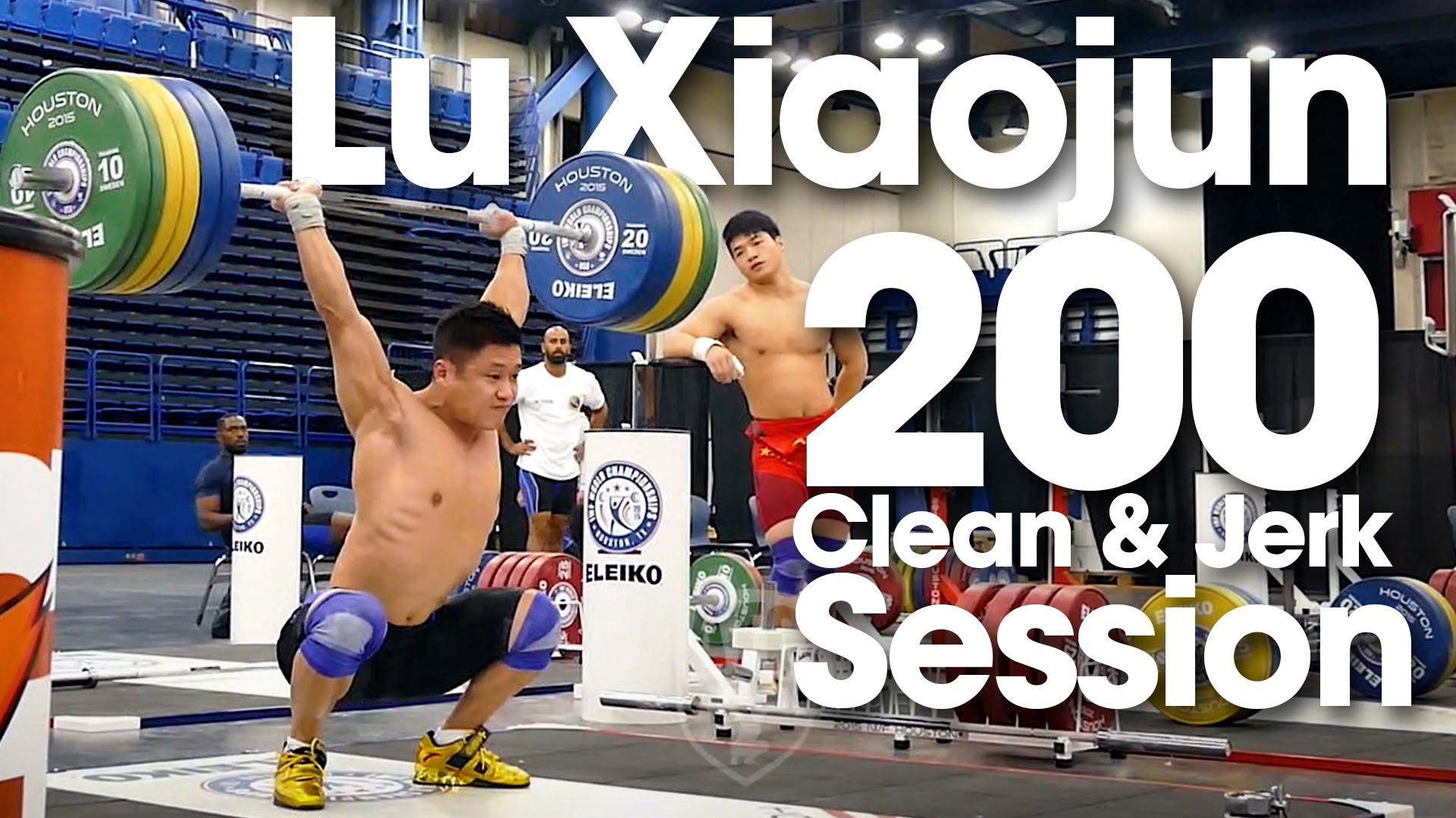 Lu Xiaojun 200kg Clean Amp Jerk With A Smile Full Session
