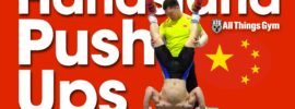 Yuan Chengfei & Zhang Jie Handstand Push Ups Asian Championships Training Hall