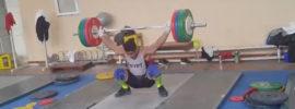 Mohamed Ehab 165kg Snatch Training Camp Uzbekistan