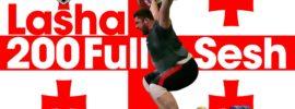 Lasha Talakhadze 200kg Snatches + 265kg Back Squat Full Session