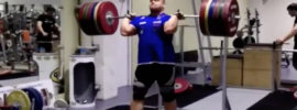 Mart Seim Walk + Paused Front Squat with 260kg