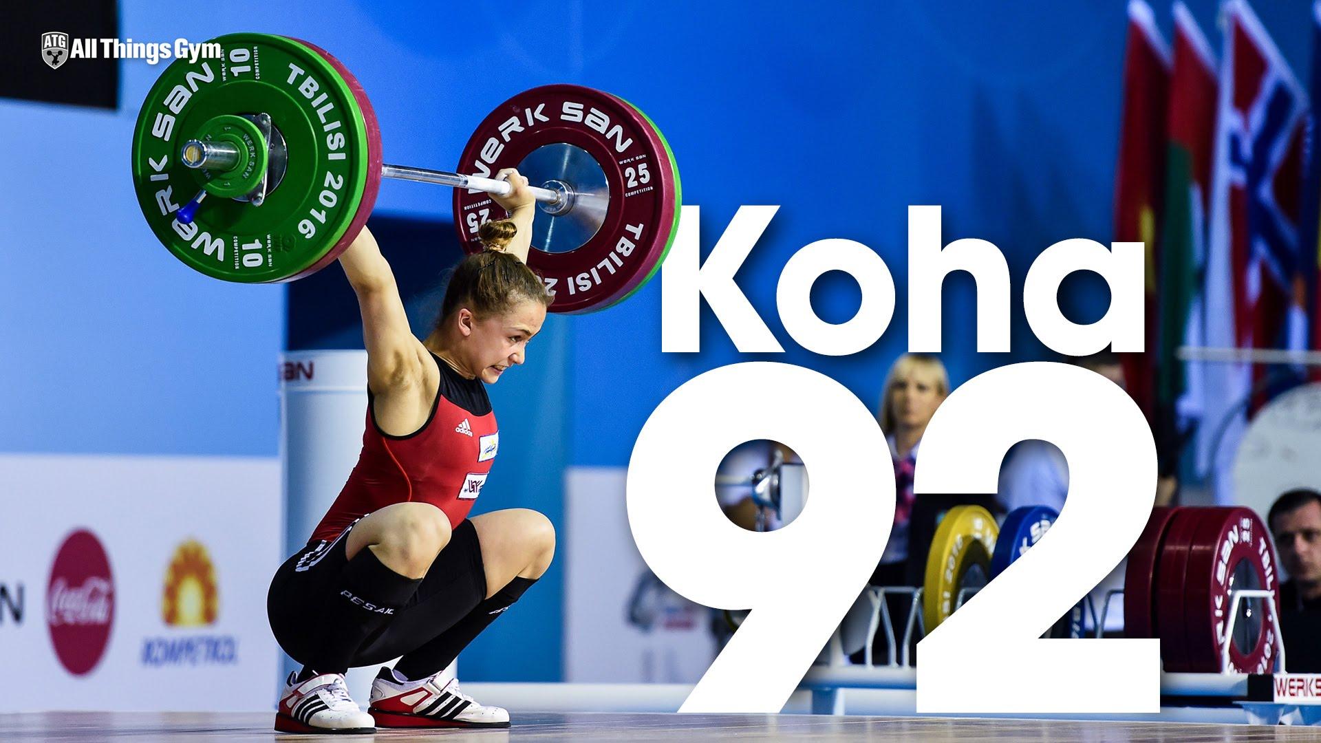 Rebeka Koha 92kg Snatch 2016 Junior World Weightlifting ...