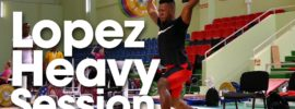 Yeison Lopez 150kg Snatch 160kg Power Clean 185kg Clean & Jerk Training Session