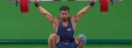 Kianoush Rostami 179kg Snatch + 217kg Clean and Jerk 2016 Olympic Games