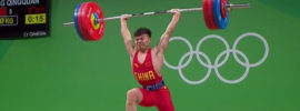 Long Qingquan 137kg Snatch + 170kg Clean & Jerk 2016 Olympic Games
