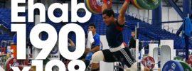 Mohamed Ehab 190kg Clean & Jerk + 198kg PR Attempts