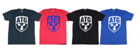 New ATG Shirts Charcoal White & Red Blue