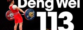 Deng Wei 113kg Snatch 2015 World Weightlifting Championships