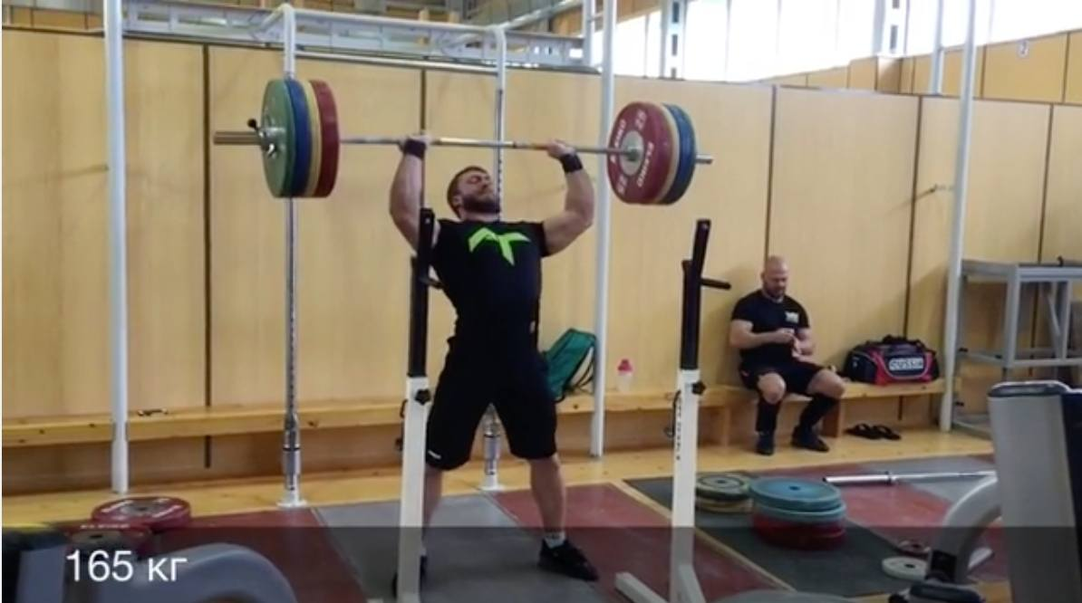 Dmitry Klokov & Dmitry Berestov Strict Pressing 165kg ...