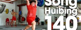 Song Huibing 140kg Clean & Jerks 2016 Youth Worlds Training Hall
