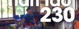 Tian Tao 230kg Clean & Missed Squat Jerk