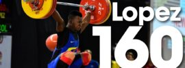Yeison Lopez 160kg Snatch + 191kg Clean and Jerk Youth World Records