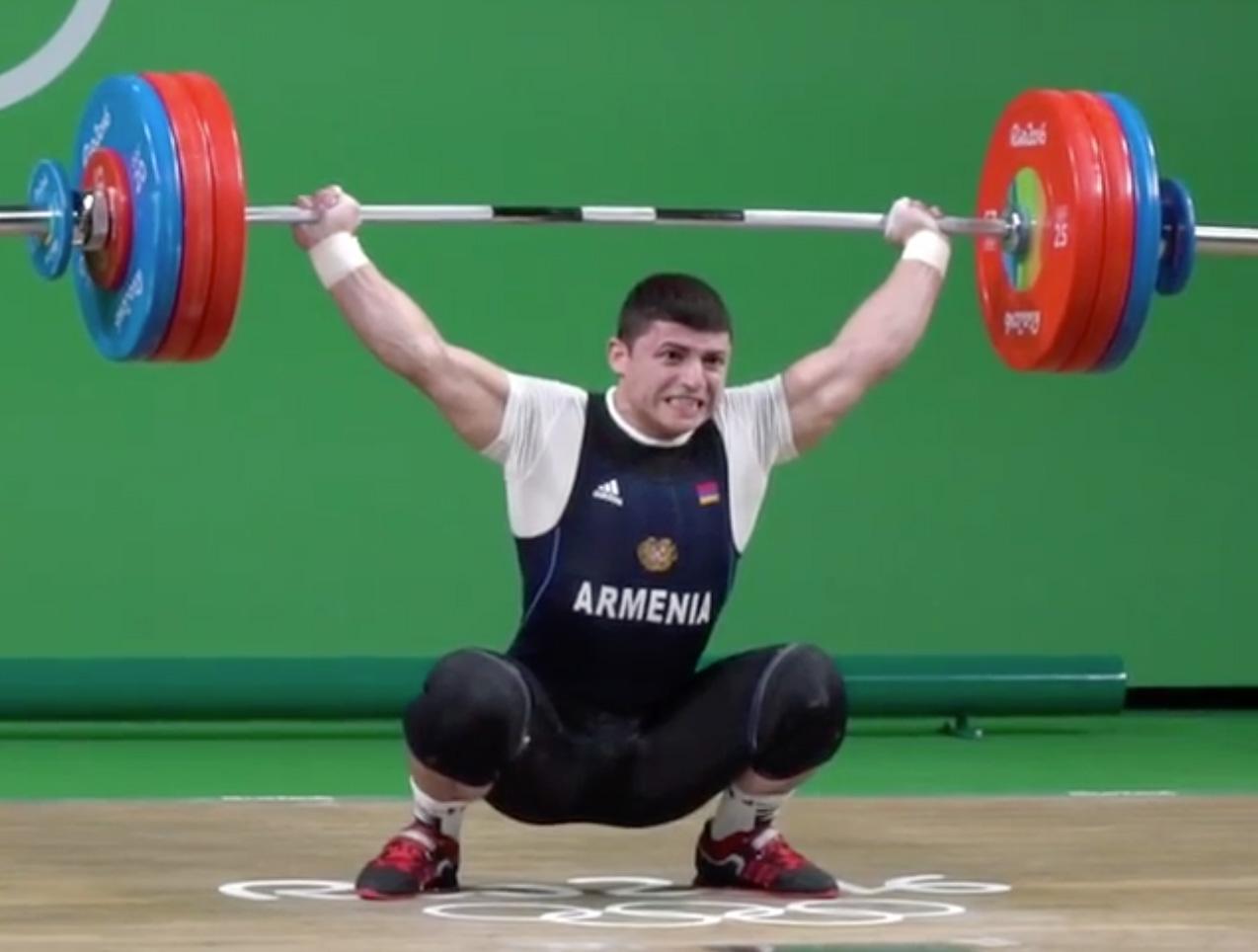 Andranik Karapetyan 174kg Snatch 2016 Olympic Games All