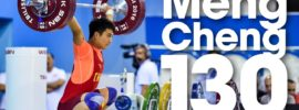 Meng Cheng 130kg Snatch 2016 Junior World Weightlifting Championships