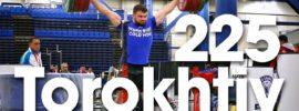 Aleksey Torokhtiy 225kg BTN Snatch Grip Push Press