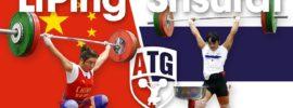 Li Ping & Sukanya Srisurat Warm Up Area 2015 Asian Championships