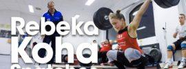 Rebeka Koha Warm Up Area Snatches & Clean & Jerks Bundesliga Weightlifting