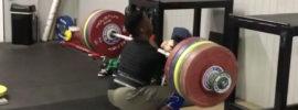 CJ Cummings 222kg x2 Front Squat *Update: 230kg*