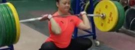 Li Yajun (53kg) 140kg Front Squat