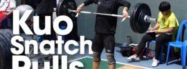 Kuo Hsing-Chun Snatch Pulls 2016 Asian Championships Training Hall