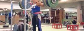 Lydia Valentin 170kg x3 Squat