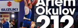 Artem Okulov 212kg Clean & Jerk 2017 Europeans