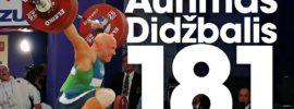 Aurimas Didzbalis 181kg Snatch Gold Medal 2017 European Weightlifting Championships