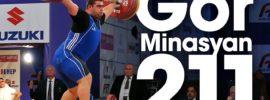 Gor Minasyan 200, 205, 211kg Snatch Save 2017 European Weightlifting Championships
