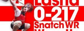 Lasha Talakhadze 0 – 217kg Snatch World Record Warm Up