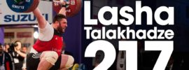 Lasha Talakhadze 217kg Snatch World Record 2017 European Weightlifting Championships