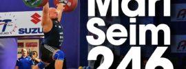 Mart Seim 246kg Clean & Jerk 2017 European Weightlifting Championships