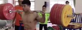 Tian Tao 300kg Squat Double + 225kg Clean & Jerk
