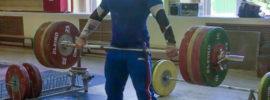 Artem Okulov 180kg Hang Snatch