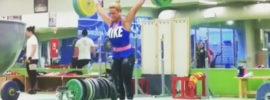 Lydia Valentin 125kg Snatch