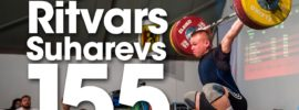 Ritvars Suharevs 155kg Snatch PR at 2017 Meissen Cup