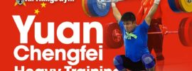 Yuan Chengfei 180kg Clean & (Squat) Jerk Full Session 2017 Asian Championships