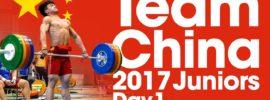 Team China Day 1 2017 Junior Worlds Training Hall