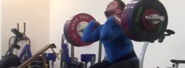 Timur Naniev 190kg 2+2 Power Clean & Jerk