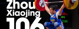 Zhou Xiaojing 106kg Snatch Gold Medal 2017 Junior Worlds