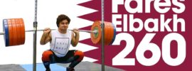 Fares Elbakh Morning Session Back Squats up to 260kg 2017 Junior Worlds