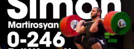 Simon Martirosyan 0-246kg Full Warm Up Session 2017 Junior Worlds