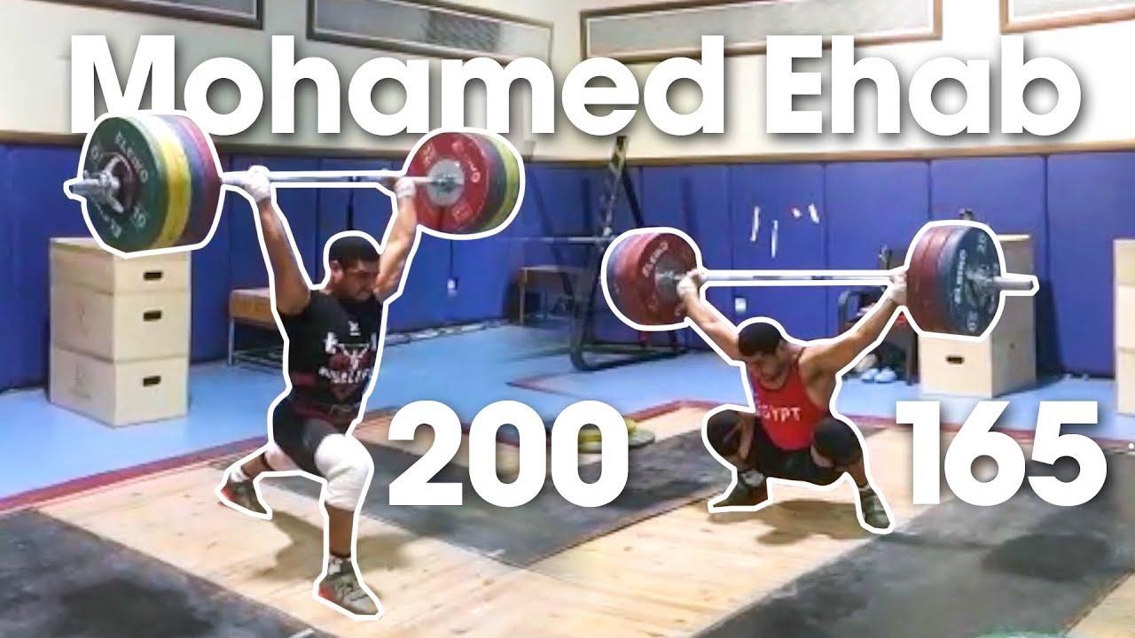 Mohamed Ehab 165kg Snatch 200kg Clean Amp Jerk In Training