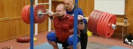 Mart Seim 375kg x2 Squat