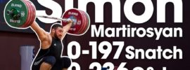 Simon Martirosyan 197kg Snatch + 236kg Clean & Jerk 2017 European Juniors Full Session